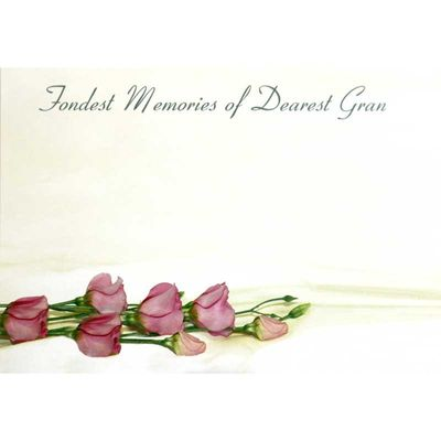 Fondest Memories Dearest Gran - Large Sympathy Card (x25)