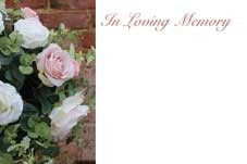 In Loving Memory - Pink Roses Sympathy Cards (x50)