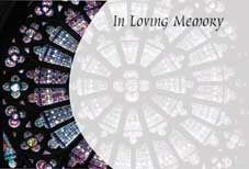 In Loving Memory - Stained Glass Sympathy Cards (x50)
