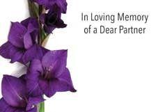 In Loving Memory Dear Partner Sympathy Cards (x50)