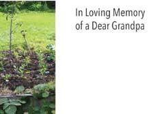 In Loving Memory Dear Grandpa - Garden Sympathy Cards (x50)