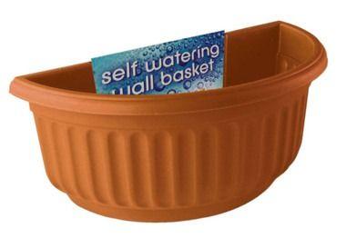 Stewart Corinthian Half Round Wall Baskets - Terracotta-2271034