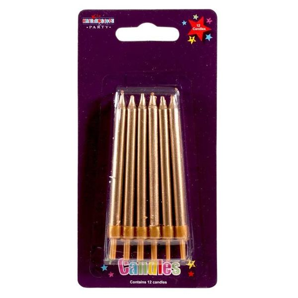 Gold Party Candles (6pk)