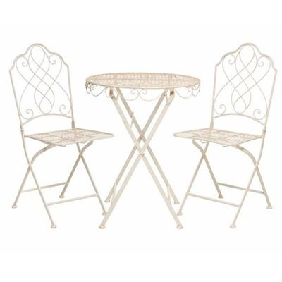 Avalon Cream Metal Bistro Set