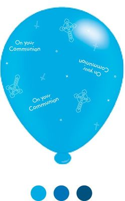 1st Communion Latex Balloons