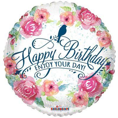 Floral Happy Birthday Balloon