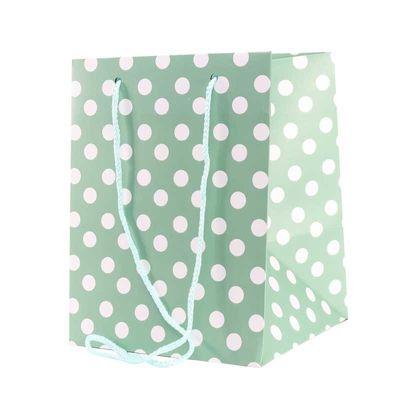 Sage Polka Dot Hand Tie Bag
