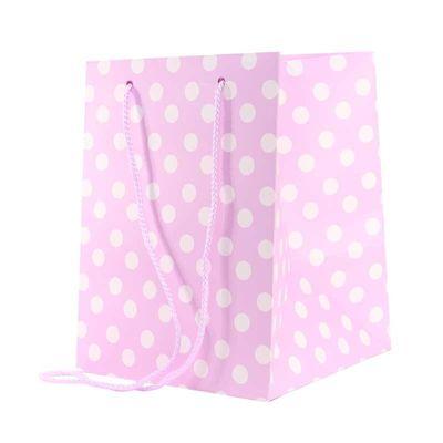 polka dot gift bag