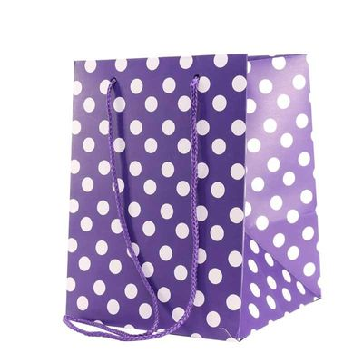Purple Polka Dot Hand Tie Bag