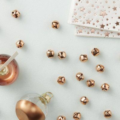 Mini Rose Gold Bell Confetti