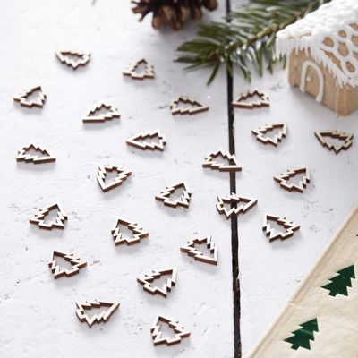 Wooden Mini Christmas Tree Confetti