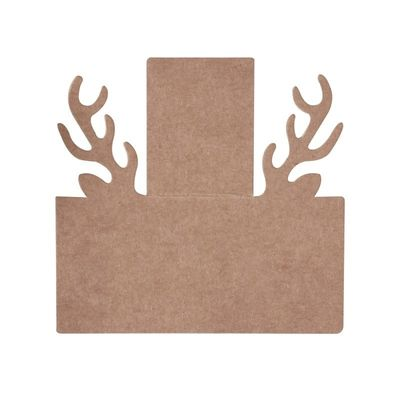 Stag Head Kraft Christmas Place Cards