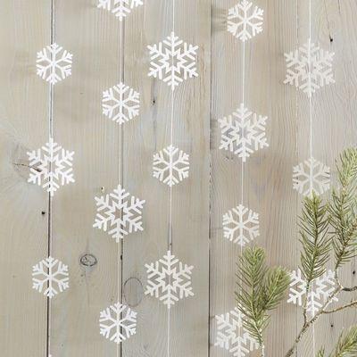 White Snowflake Hanging Garland