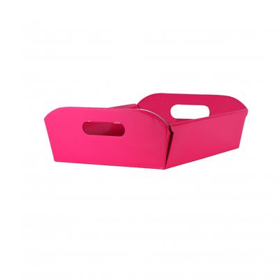 Pink cardboard hamper