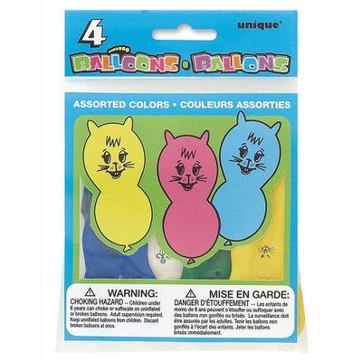 Cat Shaped Latex Balloons