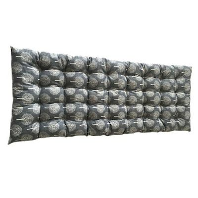 Blue/Grey Patterned Bench Cushion