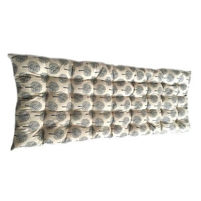 Cream/Grey Tree Print Bench Cushion