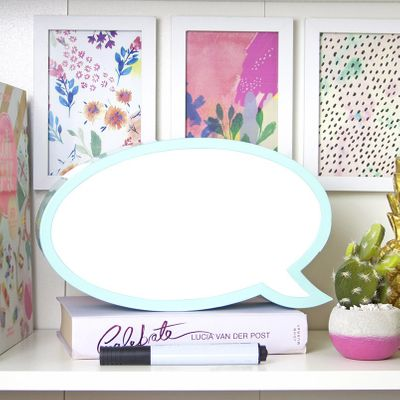 Mint Green Write On Speech Bubble