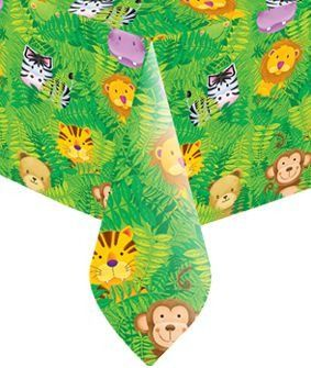 Jungle safari party tablecover