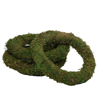 green moss wreath