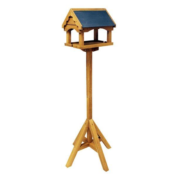 Slate Roof House Bird Table
