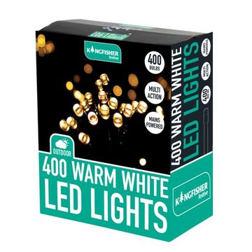400 Warm White Multi Action LED Christmas Lights