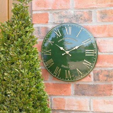 12 Inch Green Acacia Clock