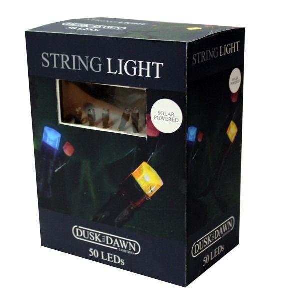 50 Multi Coloured LED Solar String Light