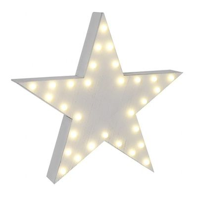 white wooden star