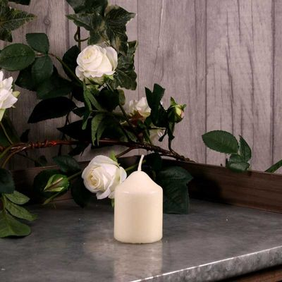 Ivory Chapel Candle 75x50