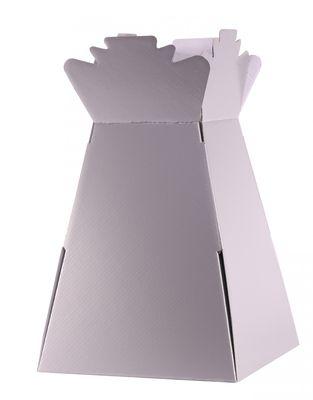 metallic silver living vase