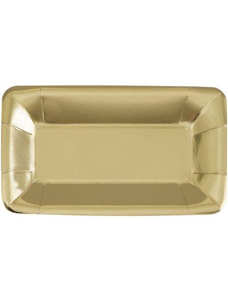 Metallic Gold Platter (8pk)
