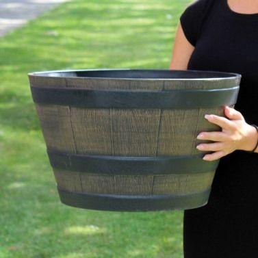 Plastic Barrel Planter
