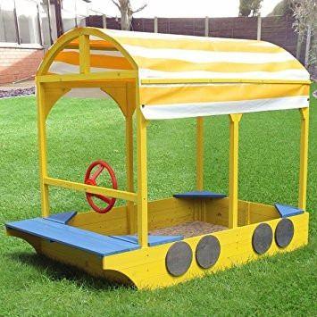 Wooden Bus Sandbox