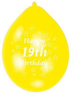 Happy Birthday 19th Balloons