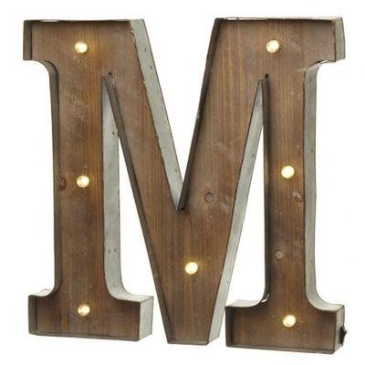 led letter m
