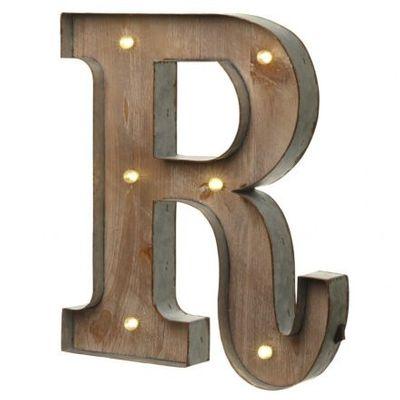 led letter r