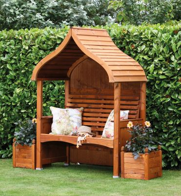 Beech Stained Arbour