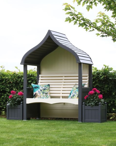 Cream and Charcoal Arbour