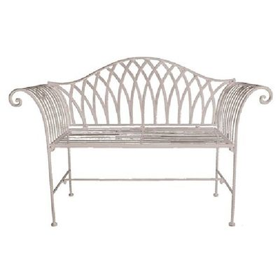 Cream Metal Bench
