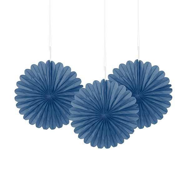 Mini Blue Fan Decorations
