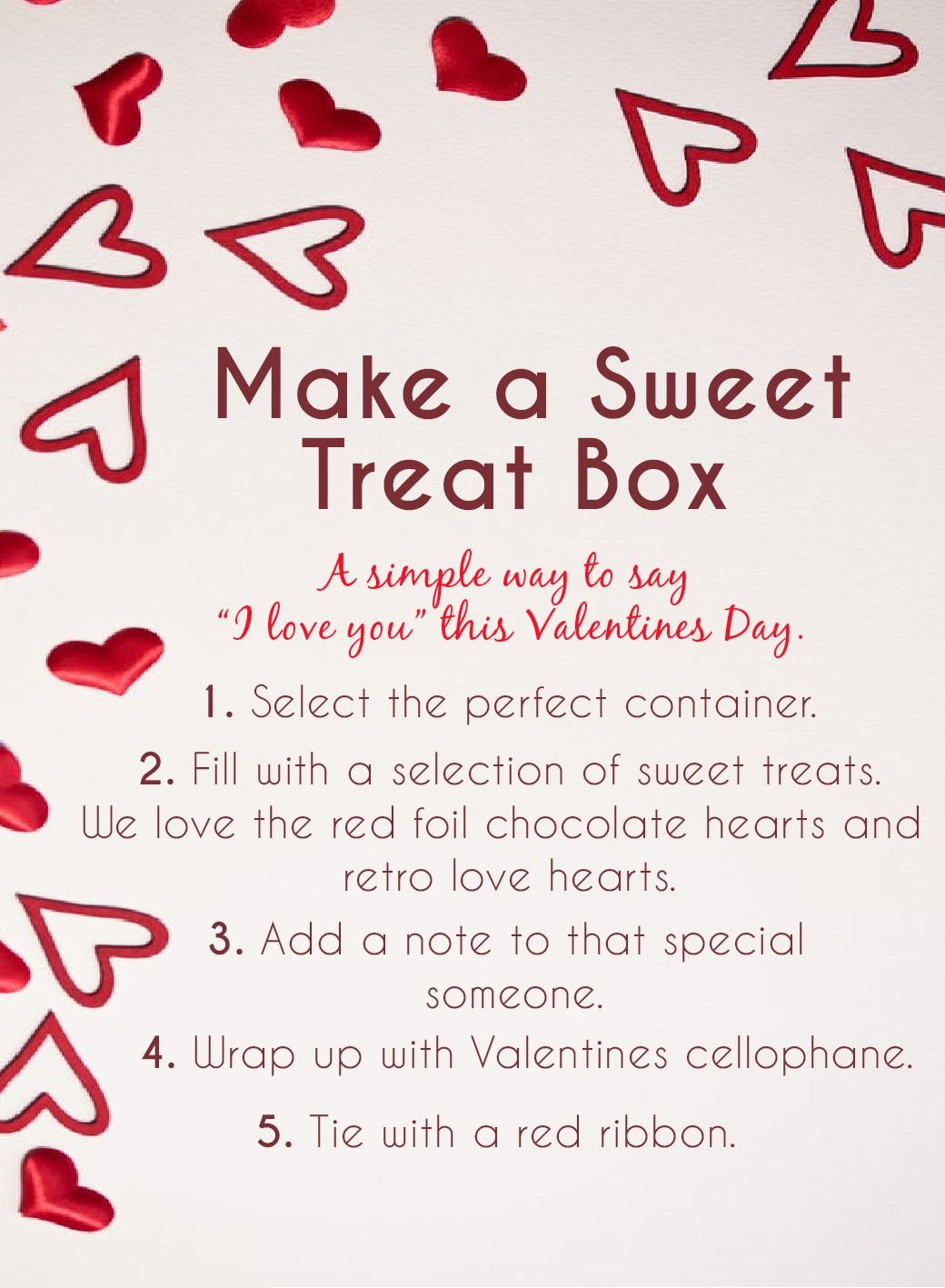 Make a sweet treat box for that special someone