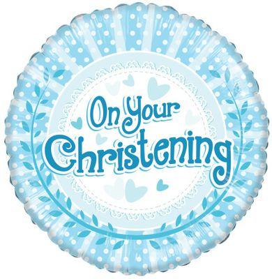 christening balloon