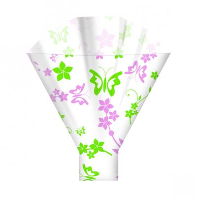 Pink & Green Abigail Sleeves 44cm