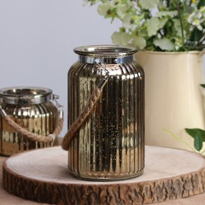 Gold Speckle Candle Holder