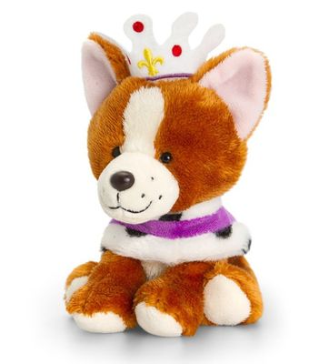 14cm Corgi With Cape & Crown