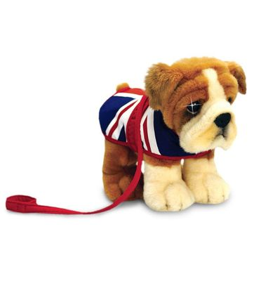 30cm Bulldog With Union Jack Coat