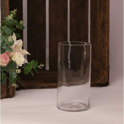 20cm Clear Glass Cylinder