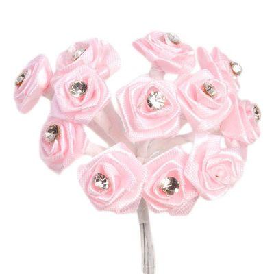 Pink Ribbon Diamante Ribbon
