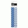 Royal Blue Polka Dot Strong Paper Straws - pk 10
